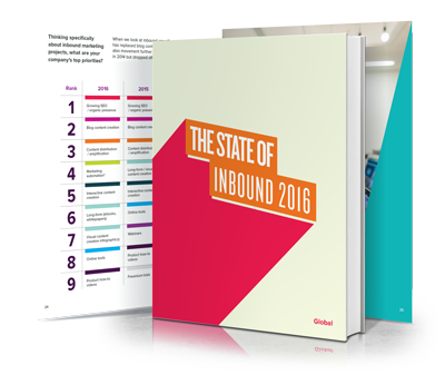 Image of HubSpot's State of Inbound 2016 report. Insight for inbound marketing agencies.