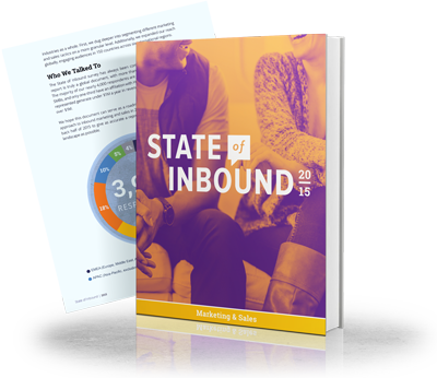 Image of HubSpot's State of Inbound 2015 report. Insight for inbound marketing agencies.