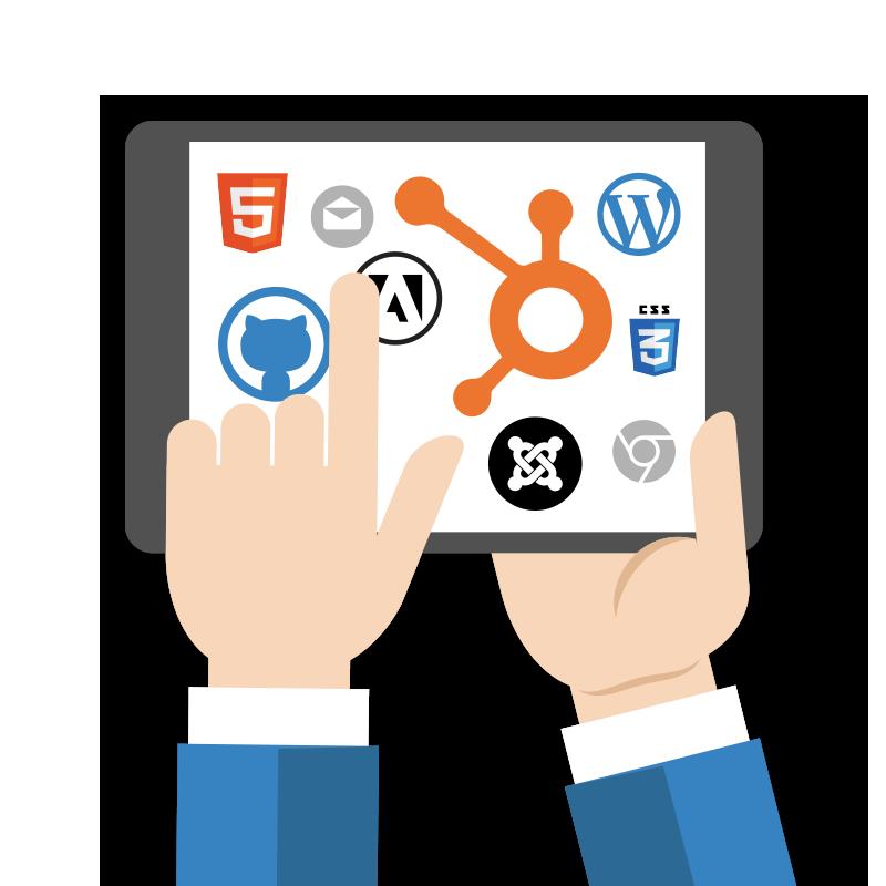 WordPress, Joomla and HubSpot platforms