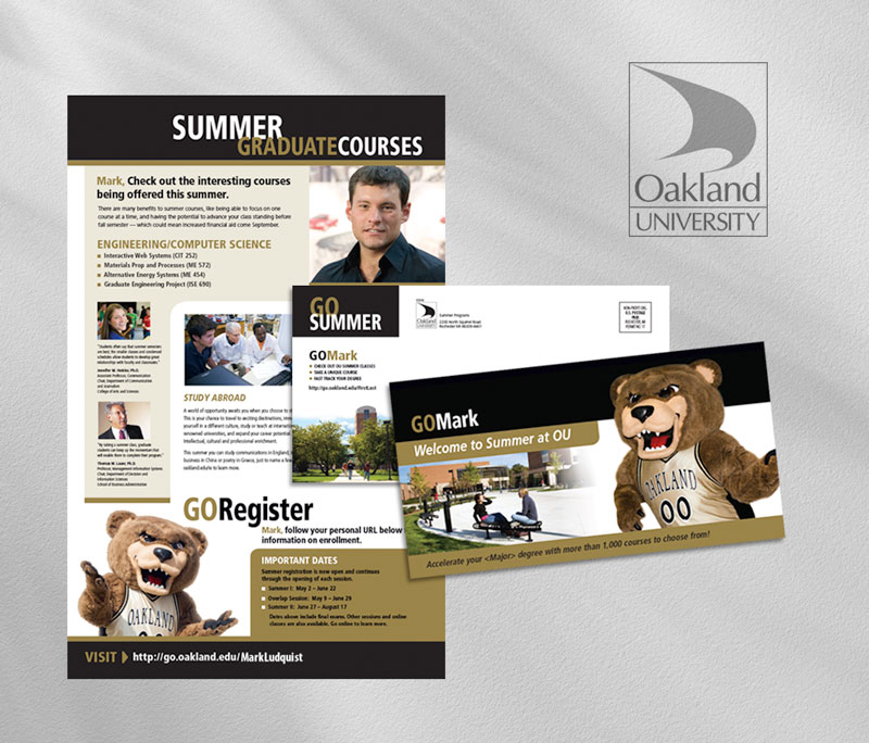Oakland University direct mail