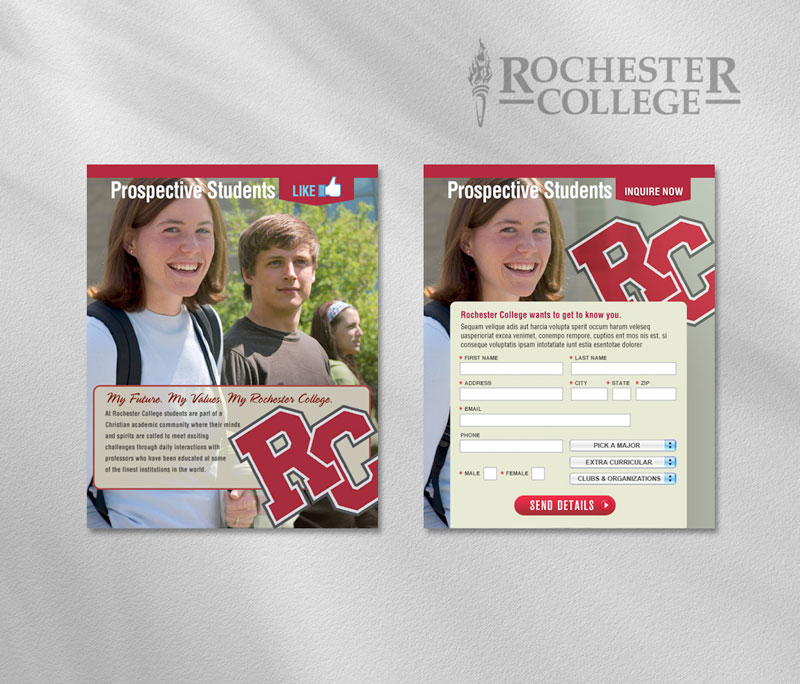 Rochester College social media