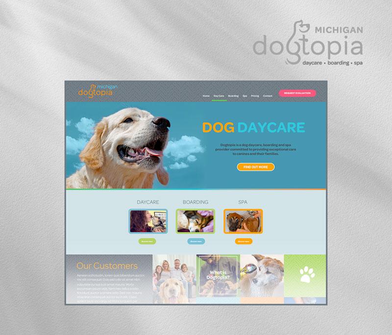 Dogtopia homepage
