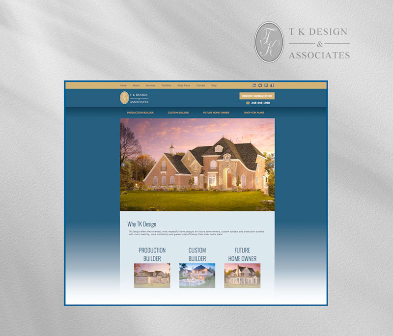 TK design homepage